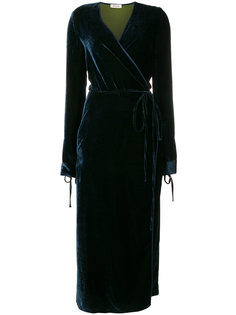 velvet wrap dress Attico