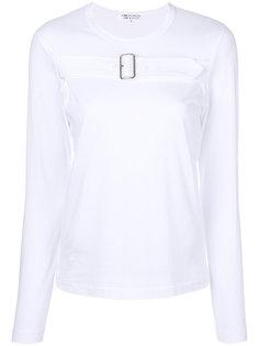 buckle detail jersey top  Comme Des Garçons Comme Des Garçons
