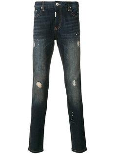приталенные джинсы с потертой отделкой Represent