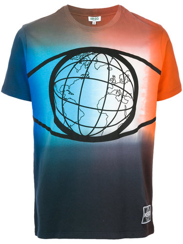 футболка с принтом глобуса Kenzo
