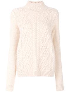 свитер-водолазка с узором косы Lanvin