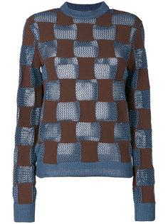свитер с узором Marni