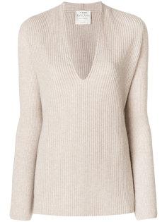 ребристый свитер с V-образной горловиной Forte Forte