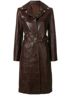 пальто с поясом  Helmut Lang