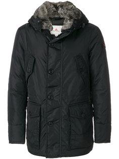 куртка с капюшоном и меховой оторочкой Peuterey