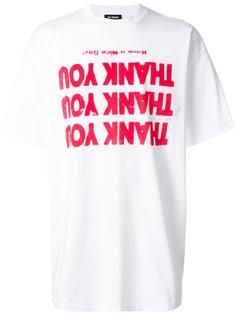 футболка с графическим принтом Raf Simons