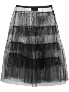 расклешенная юбка миди  Simone Rocha