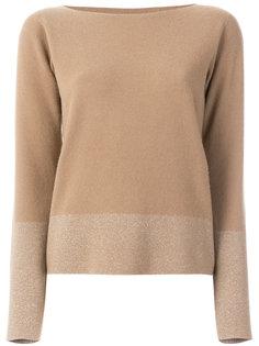 свитер с панелью металлик Fabiana Filippi