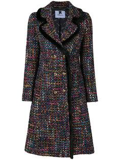 пальто с отделкой из норкового меха Blumarine