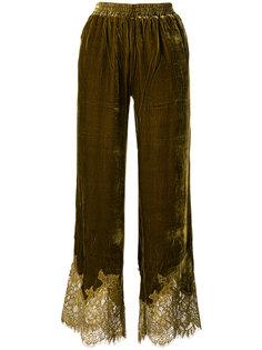 брюки с кружевной отделкой  Gold Hawk