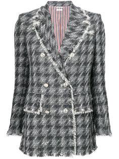 приталенный пиджак с бахромой  Thom Browne