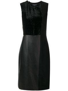 платье со вставкой  Salvatore Ferragamo