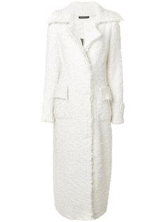 длинное пальто Alexander McQueen