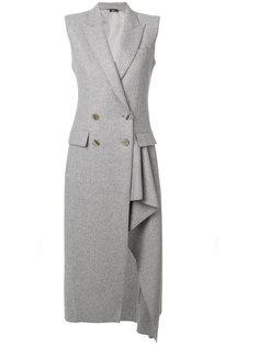 асимметричное двубортное пальто Alexander McQueen