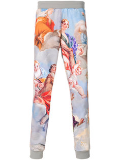 спортивные брюки с барочным принтом Moschino