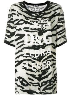 футболка с зебровым принтом Dolce & Gabbana