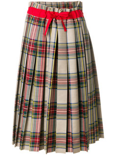 плиссированная юбка с узором тартан и бантом  Sofie Dhoore