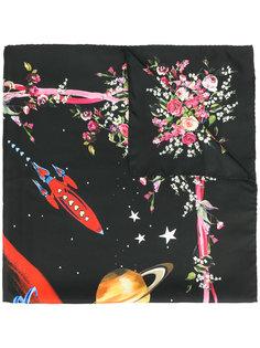 платок с цветочным принтом Dolce & Gabbana