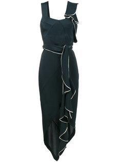платье асимметричного кроя с драпировкой и вырезами Kitx