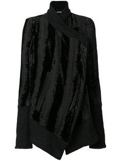 бархатная куртка асимметричного кроя Ann Demeulemeester