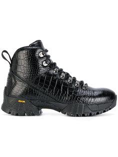 ботинки с тиснением под крокодиловую кожу Alyx