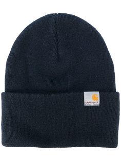 вязаная шапка с заплаткой с логотипом Carhartt