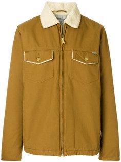 джинсовая куртка с воротником из овчины Carhartt