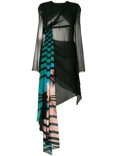 платье с драпировкой и вырезом на спине Off-White