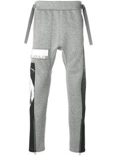 спортивные брюки  панельным дизайном Helmut Lang