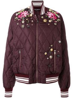 куртка-бомбер с вышивкой  Dolce & Gabbana