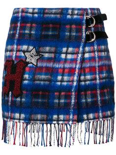 юбка в клетку с нашивкой  Hilfiger Collection