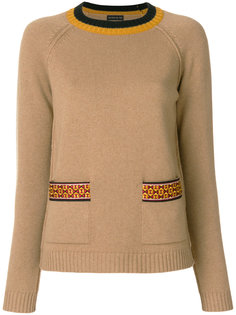 джемпер с вышивкой на карманах Etro