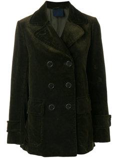 двубортное вельветовое пальто Aspesi
