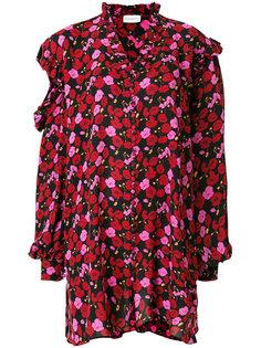 платье с цветочным принтом и оборками  Magda Butrym