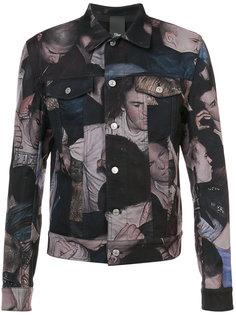 джинсовая куртка с принтом Dior Homme