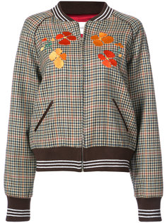 embroidered checked bomber jacket Rodarte