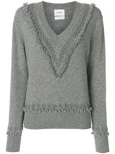 свитер с V-образным вырезом и декоративной строчкой  Barrie