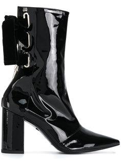 лакированные высокие ботинки Robert Clergerie