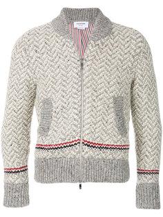 свитер с контрастными полосками Thom Browne