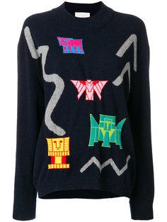 свитер с узором интарсия  Peter Pilotto