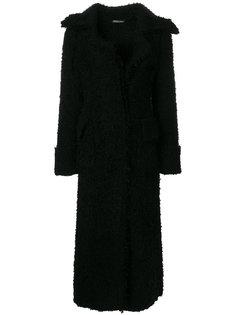 длинное текстурированное пальто Alexander McQueen