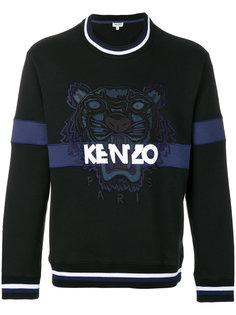 джемпер с вышивкой тигра Kenzo