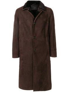 удлиненное пальто из овчины Liska