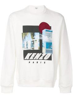 футболка с длинными рукавами с принтом Kenzo
