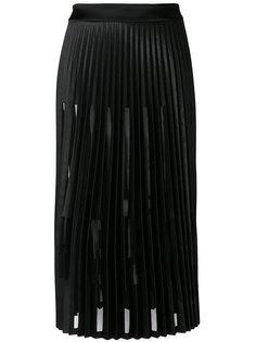плиссированная юбка миди  Ssheena