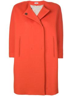 пальто без воротника с укороченными рукавами  Alberto Biani