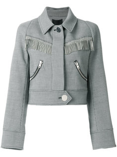 micro check cropped jacket Alexander Wang