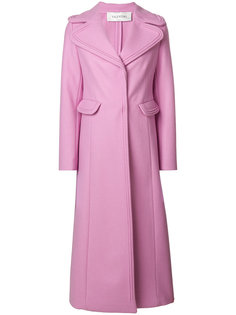 длинное однобортное пальто  Valentino