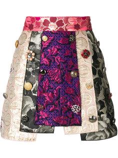 жаккардовая юбка со вставками  Dolce & Gabbana