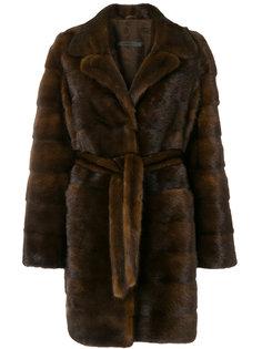 норковая куртка с поясом Simonetta Ravizza